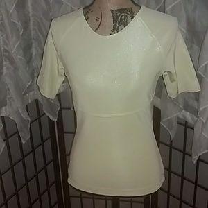Gucci butter yellow short sleeve top. Medium